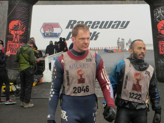 Matt at the finish line